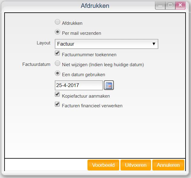 Online factureren voorbeeld bekijken
